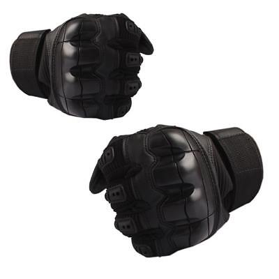 Motorcycle Touch Screen Rubber Hard Knuckle Leather Full Finger Gloves BC#Hot