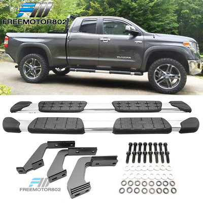 07-18 Toyota Tundra Double Cab Crew Cab Chrome Running Boards Side Steps Bars