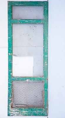 "Vintage Wooden Screen Door 33"" X 93"" Local Pickup Exterior Screen Door XL"