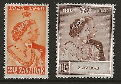 Zanzibar  Sg 333/4  1949 Silver Wedding Set   Fine Mounted Mint