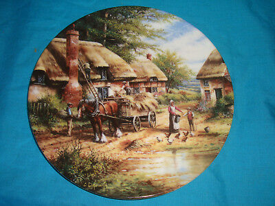 Wedgwood - Country Days - Mending the Thatch - Collector Plate