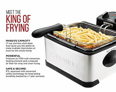 Chefman Deep Fryer w Basket Strainer Perfect for Chicken, Shrimp, Fries & More