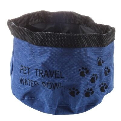 G1G7 Pet Dog Cat Bowl Water Food Feeder Portable Collapsible Foldable Travel Bl