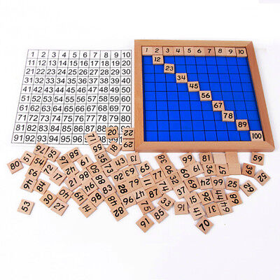 Great 1-100 Digital Number Count Wooden Board Kid Math Educational Tool Toy GIFT