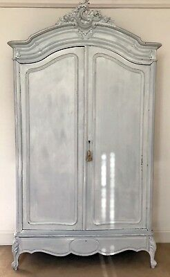 Original Antique Armoire Wardrobe with typical Rococo to