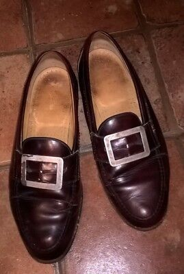 Men's brown shoes with added buckle for an C19 look, good condition
