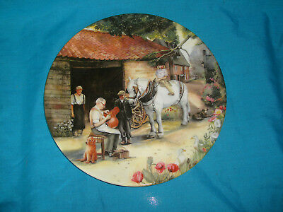 Royal Doulton - Old Country Crafts - The Saddle Maker - Collector Plate