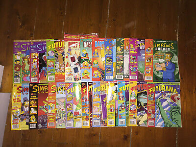 Mix of Simpsons and Futurama comics - 20 in Total