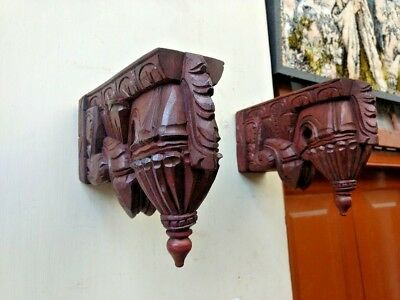 Wall Hanging Corbel Pair Wooden Bracket For Shelve Home Decor Bodhil Diwali Gift