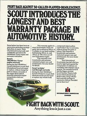 1980 International Harvester SCOUT advertisement, IH Scout, Canadian ad