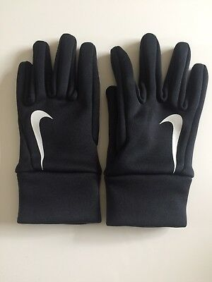 Nike Women's Dri-Fit Running Gloves Black Size Small New (other) Prompt Freepost
