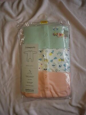 Mothercare babygrows x 3 bnwt and a 1 x velour babygrows bnwnt