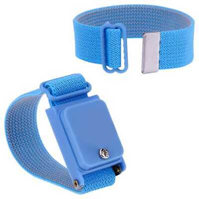 Pulsera Anti Estatica Ajustable sin Cables Wireless Aislante Electronica Azul