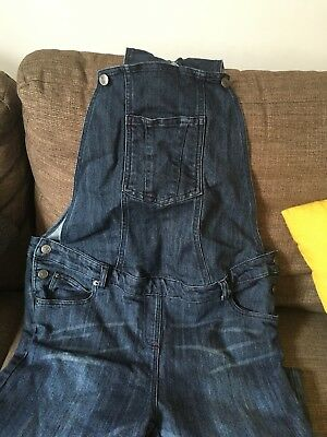 JoJo Maman Bebe Maternity Blue Dungarees Size 12 - fantastic condition