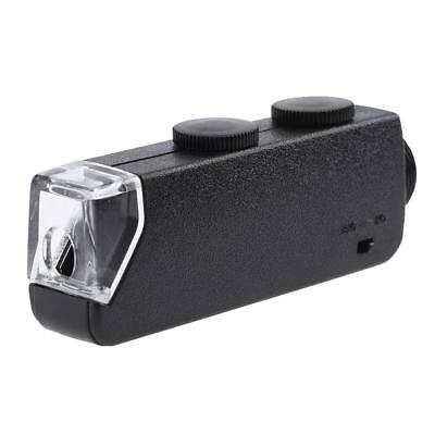 60X-100X Zoom Microscope LED Light Magnifier Clip-on Micro Lens for Mobile Phone