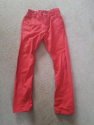 Boys Next Red Jeans Trousers 7 Years