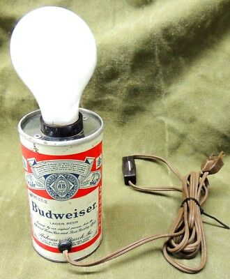 Vintage Budweiser Beer Can Lamp UL Listed Very Cool for the Dorm or the Mancave!