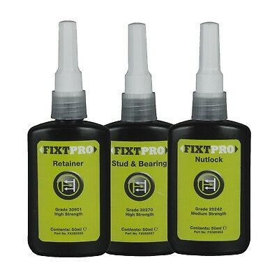 Fixt Pack Of 3 Fixt Assorted Anaerobic Adhesives 50Ml