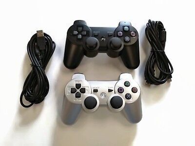 2 PS3 Controllers with 10FT Charge Cords