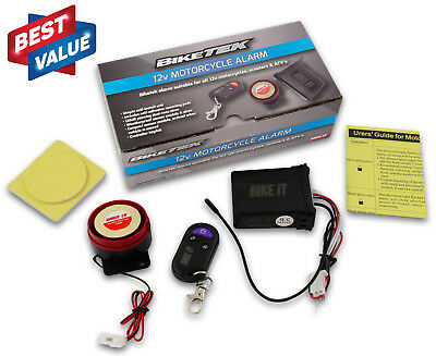 UNIVERSAL MOTORCYCLE SCOOTER 12V SECURITY ALARM 125dB MOTION ACTIVATED REMOTE