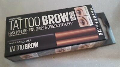 New Maybelline Tattoo Brow.medium Brown. As Seen On T.v. Up To 3 Day Wear.