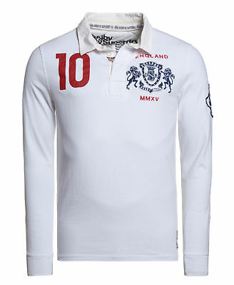New Mens Superdry Factory Second Valiant Rugby Shirt Optic