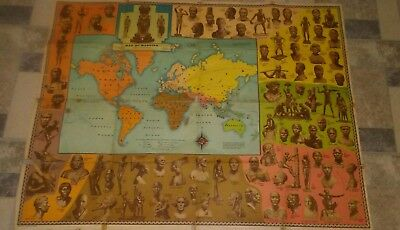 1946 C.s. Hammond And Company Map Of Mankind Sculpture By Malvina Hoffman