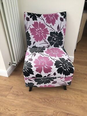 Occasional Chair colour Black light Grey and Pink