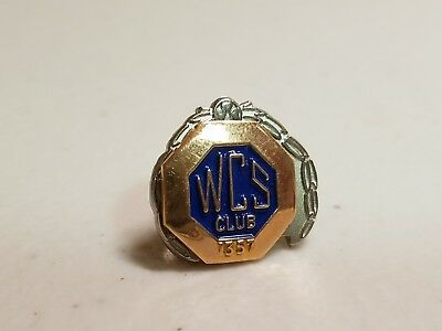 Vintage Combined Insurance Company of America WCS Club 10K Gold + Sterling Pin 2