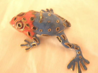 Red and Blue Enamel Dart Frog