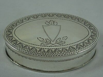 LARGE, GEORGE III solid silver PATCH BOX, 1802, 19gm