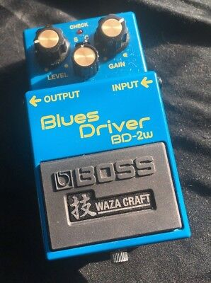 Boss BD-2W Blues Driver Waza Craft, Overdrive Guitar Pedal