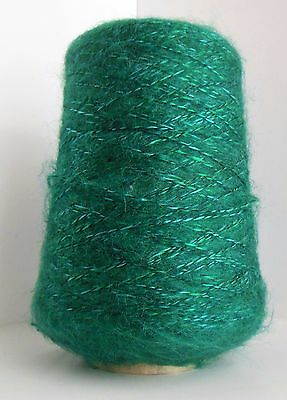 Teal Mixed Acrylic Wool Polyester Machine Knitting Yarn Cone Nomis Green