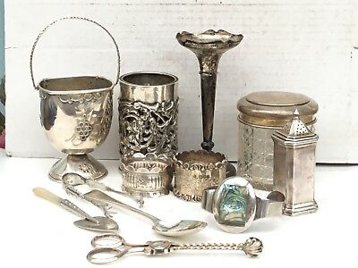 Mixed Lot of Silver Antique & Vintage Items, From 1851