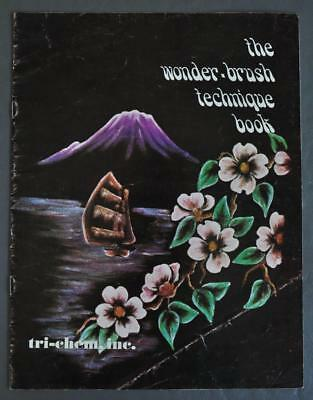 Original Rare 1974 Tri-Chem Wonder-Brush Technique Book For Painting Velveteen
