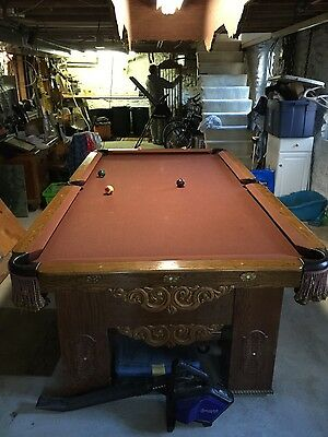 LIKE NEW BRUNSWICK Pool Table WLight Cue Rack Cover Balls - New brunswick pool table