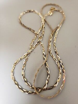 "14K Solid Gold Diamond Cut Chain .. 2.3 Grams.. 20"" Long.. Marked 14K Italy"