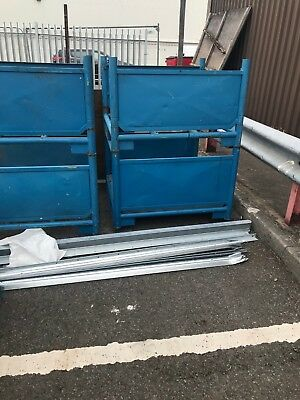 STACKABLE STILLAGES  1100mm x 1100mm x 760mm. 1 number used