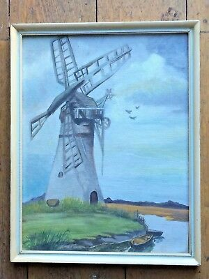 Stunning Original Vintage Watercolour of a Windmill - unsigned