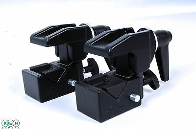 2 Manfrotto 035 Super Clamps Without Studs (Pair)