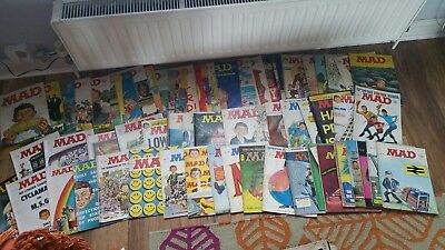 Large Lot Of 130 Vintage Mad Magazines 50's,60's,70's... Including No 1.rare.