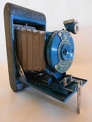 Vintage 1930-1940  Kodak 38607 Blue Rainbow Hawk-eye Vest Pocket Camera