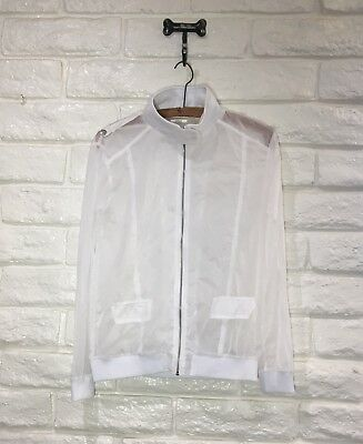 EUC Costume Gallery Dance Jacket Zip Front See-Through White Girl Sz XL [S4]