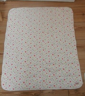 Cath Kidston Star Print Polka Dot Reverse Cot Quilt Baby Quilt Pastels
