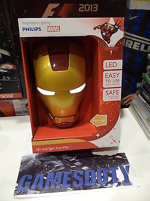Philips Lampada da Parete Marvel Iron Man in 3D, Batterie Incluse (Y0k)