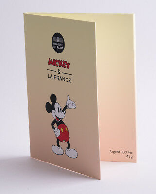 Frankreich 50 Euro 2018 - Mickey Mouse - Silber coloriert