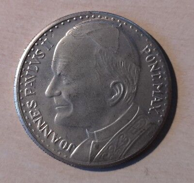 SILVER Vatican Coin Pope John Paul II  Pont.Max Commemorative Papal Medallion