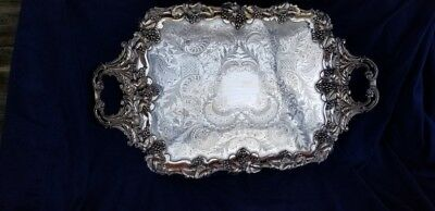 Massive early silverplace tray for coffee service
