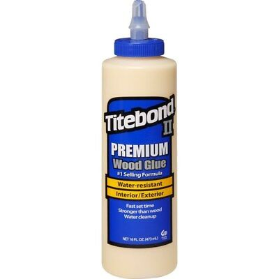 Titebond II Premium Glue 474ml Waterproof Suitable for Wood and Porous Materials
