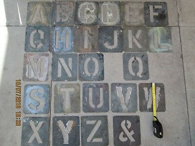 set of metal stencil letters  5 inch x 4,5 inch